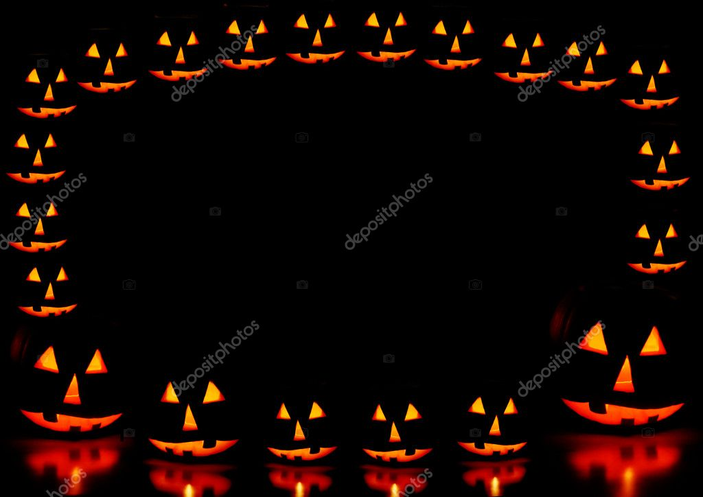 Halloween pumpkins frame — Stock Photo #11313333