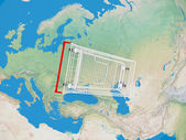 Shopping Cart Over the World — Stock Photo