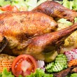 Royalty-Free Stock Photo: Stuffed roasted turkey