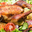 Stock Photo: Stuffed roasted turkey