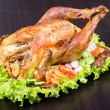 Stock Photo: Roasted turkey