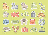 Pets care stickers — Stock Vector