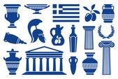Symboles de la grèce — Vecteur