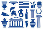 Symbols of Greece — Stock Vector