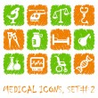Stock Vector: Pharma and Healthcare icons