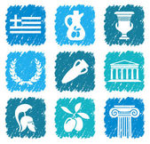 Symbols of Greece — Stock Vector