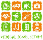 Pharma and Healthcare icons — Stock Vector