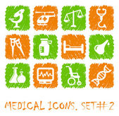 Iconos de pharma y salud — Vector de stock