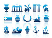 Greece icons — Stock Vector