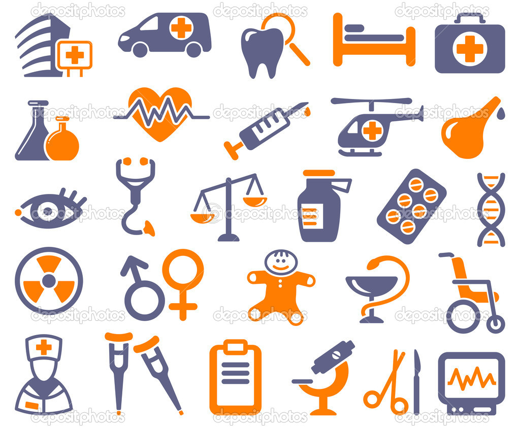 Icons of pharmacology and medicine — Stock Vector #11537800