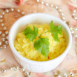 Rice with curcuma - Stock Photo