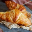 French croissants Crescents — Stock Photo #12046463