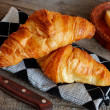 French croissants Crescents - Stock Photo