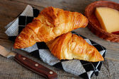 French croissants Crescents — Stok fotoğraf