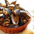 Постер, плакат: Mussels in basket
