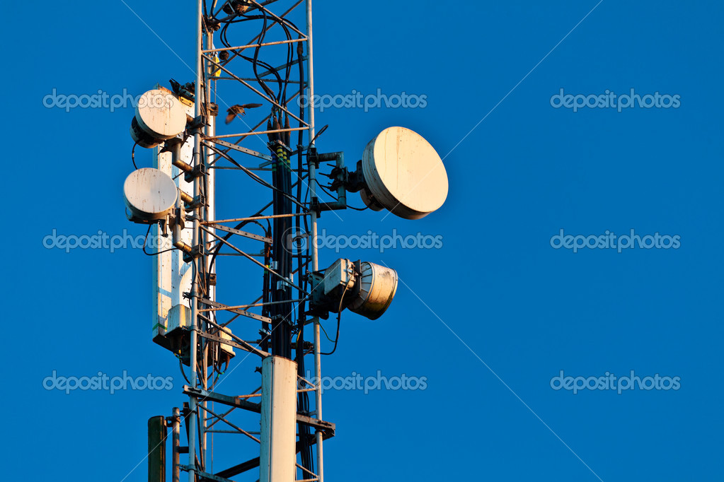 Telecommunication tower in the evening — Stock Photo #10890147