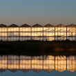 Stock Photo: Front view of greenhouse during sunset