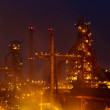 Industry view late at night — Stock Photo