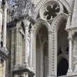 Gothic cathedral detail — Stock Photo