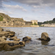Castle of San Felipe and La Palma in the estuary of Ferrol - Stockfoto