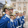 STOCKHOLM, SWEDEN - MAY 12: Swedish Royal Guard at the Royal Pal — Stock Photo