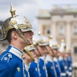Stock Photo: STOCKHOLM, SWEDEN - MAY 12: Swedish Royal Guard at Royal Pal