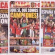Spanish sports daily Marca Covers, commemorative of the Spanish — Stock Photo