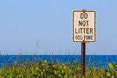 Do Not Litter — Stock Photo