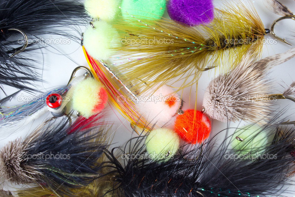 Flies for fly fishing. — Stock Photo #11883888
