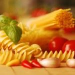 Various types of pasta — Stock Photo