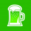 Green beer — Stock Vector