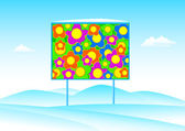 Billboard in winter landscape — Cтоковый вектор