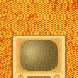 Retro TV on orange background — Stock Vector