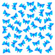 Background with blue butterflies — Stock Vector