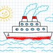 Drawing of ship — Stock Vector