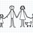 Drawing of family — Stock Vector