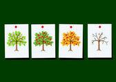 Elma ağaçlarının çizimi — Stok Vektör