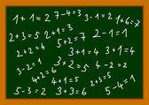 Blackboard with numbers — Stock Vector
