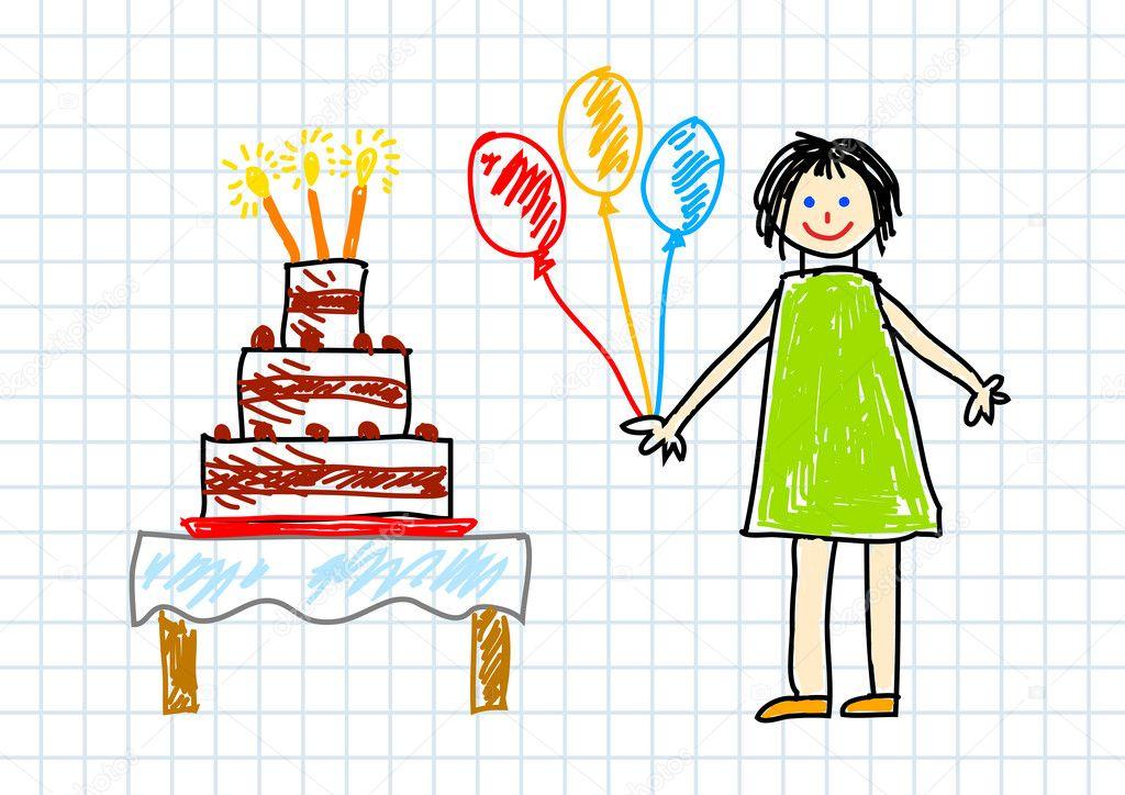 Подарок на день рождения сестре рисовать
