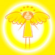 Royalty-Free Stock Vector Image: Gold angel