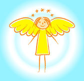 Gold angel — Stock Vector