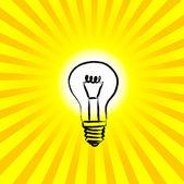 Light bulb — Stock Vector