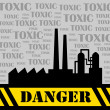 Stock Vector: Toxic factory