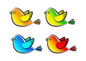 Collection of birds — Stock Vector