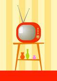 复古电视 — 图库矢量图片