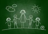 Teacher with children — Stock Vector