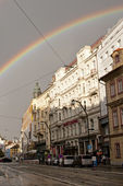 Rainbow in Prague — Stock Photo