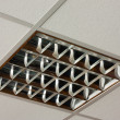 Stock Photo: Square ceiling lamp close-up view