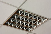 Square ceiling lamp close-up view — Stock Photo