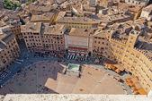 Siena, Piazza del Campo detail, Tuscany, Italy — Stock Photo